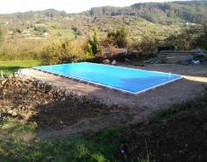 Proyecto para montaje e instalación de piscina prefabricada en Fano, Gijón.