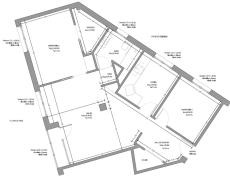Proyecto reforma interior de vivienda con cambio de distribución. Oviedo.