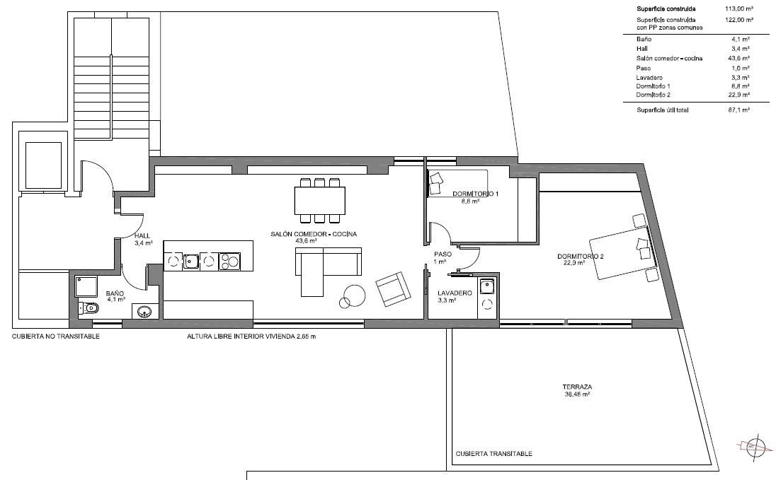 proyecto cambio de uso de oficina a vivienda calle shultz