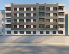 Rehabilitación de fachada de edificio. Fachada Ventilada. Oviedo.